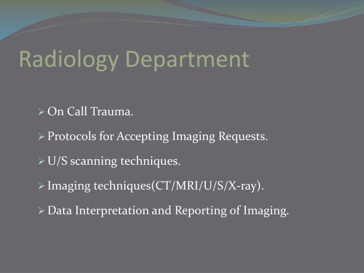 Radiology Department