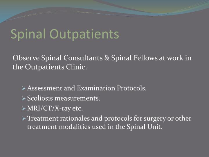 Spinal Outpatients