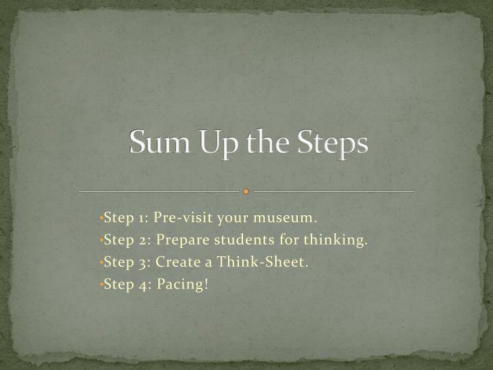 Sum Up the Steps