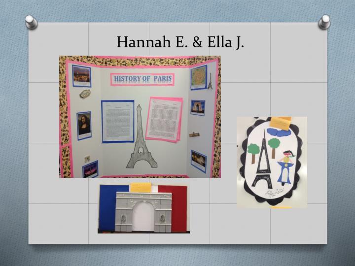 Hannah E. & Ella J.