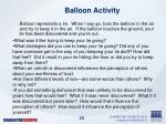 balloon activity