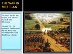 the war in michigan