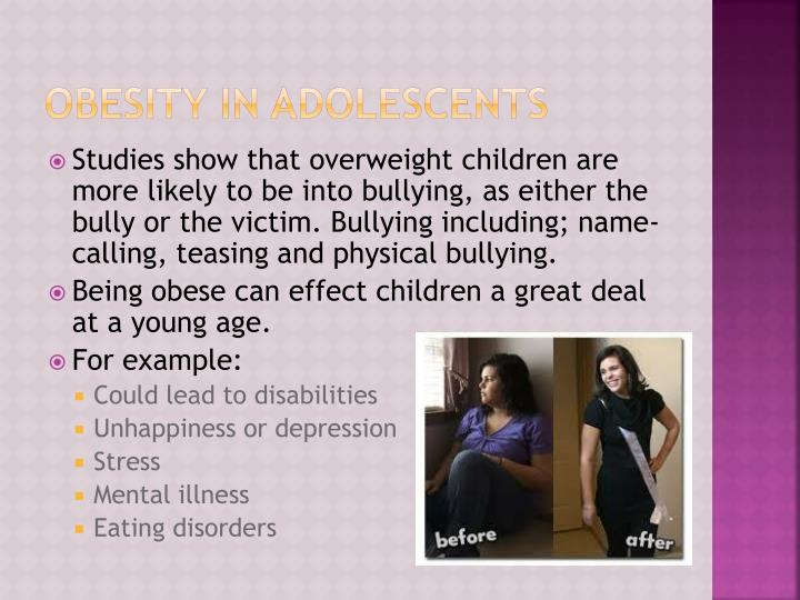 Obesity in adolescents