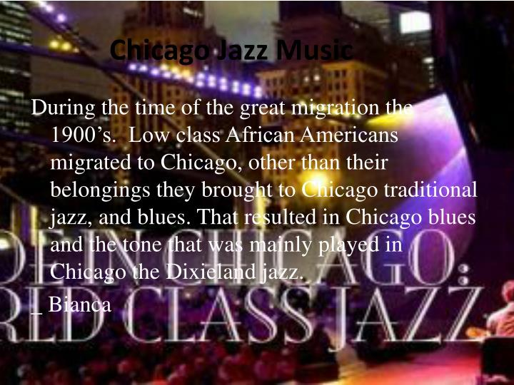 Chicago jazz music