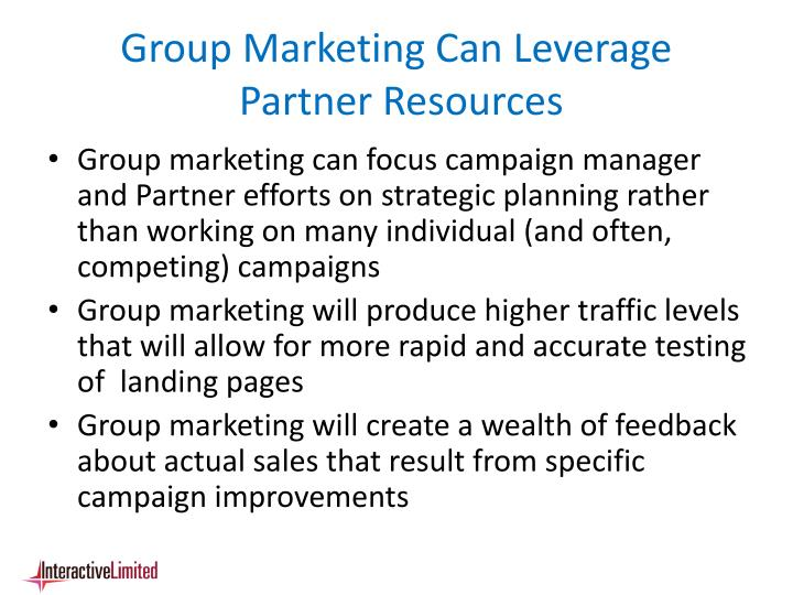 Group Marketing Can Leverage