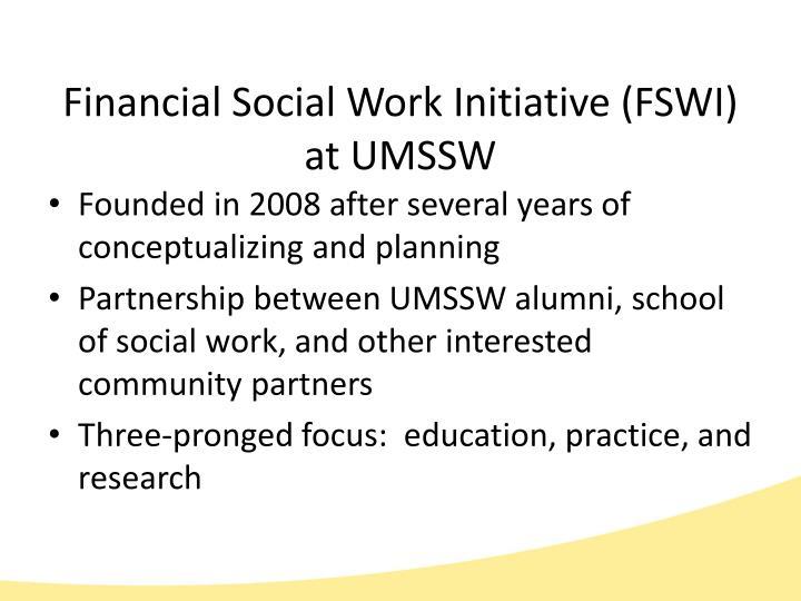 Financial Social Work Initiative (FSWI
