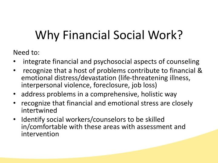 Why Financial Social Work?