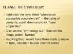 change the symbology