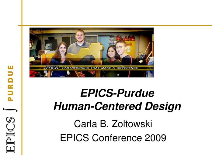 Epics purdue human centered design