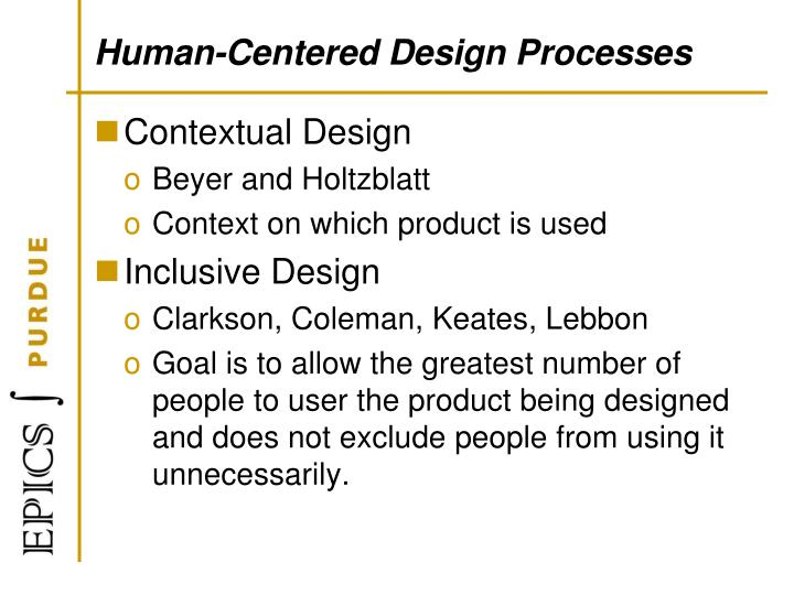 Human-Centered Design Processes