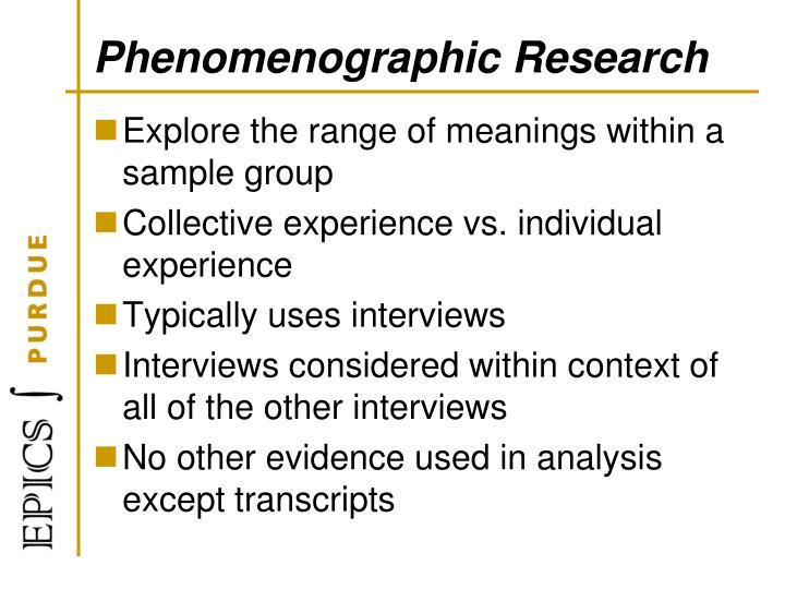 Phenomenographic Research