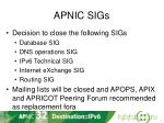 apnic sigs2