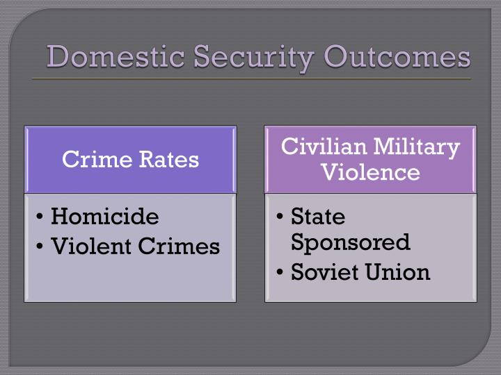 Domestic Security Outcomes