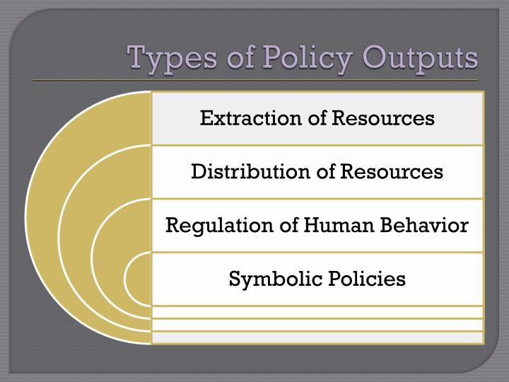 Types of Policy Outputs