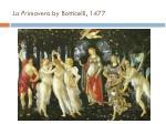 la primavera by botticelli 1477