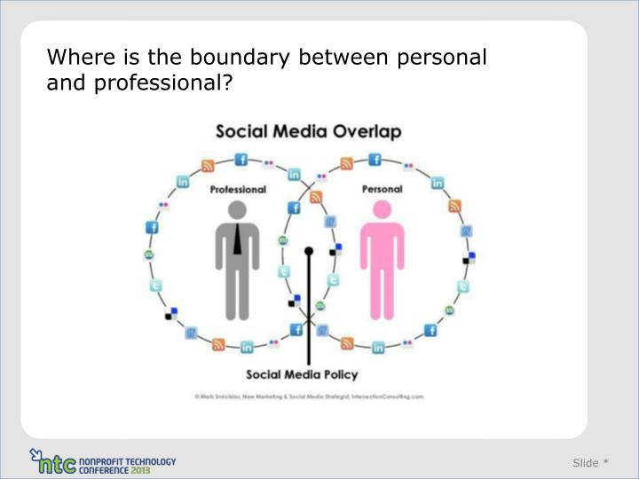 Where is the boundary between personal and professional?
