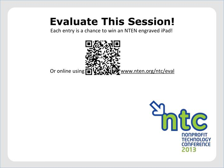 Evaluate This Session!