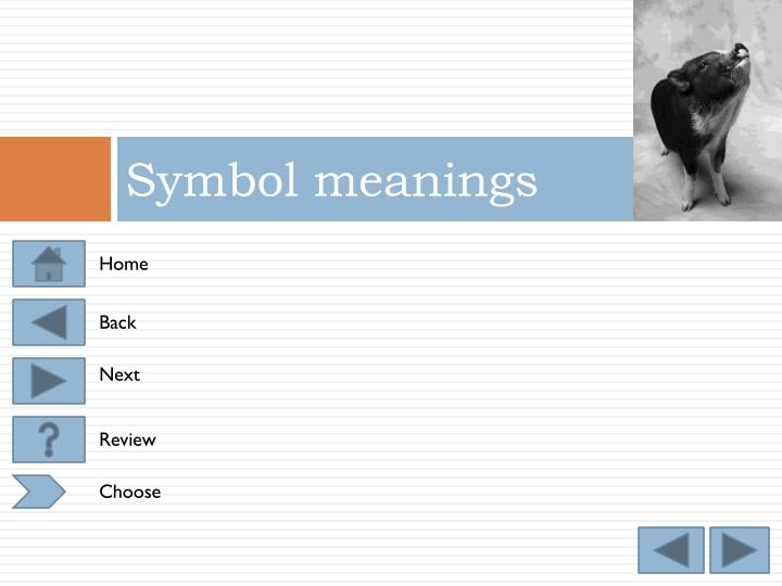 Symbol meanings