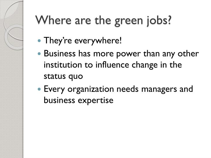 Where are the green jobs?