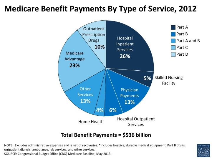 Medicare benefit payments by type of service 2012