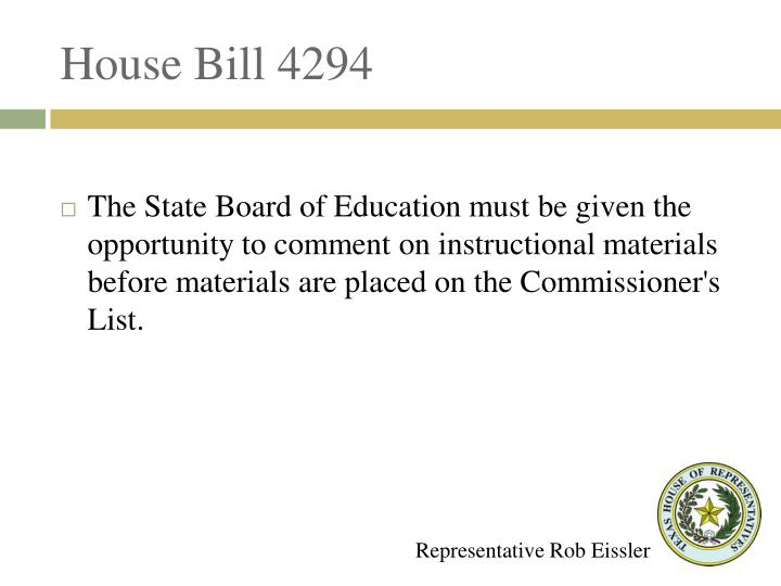House Bill 4294