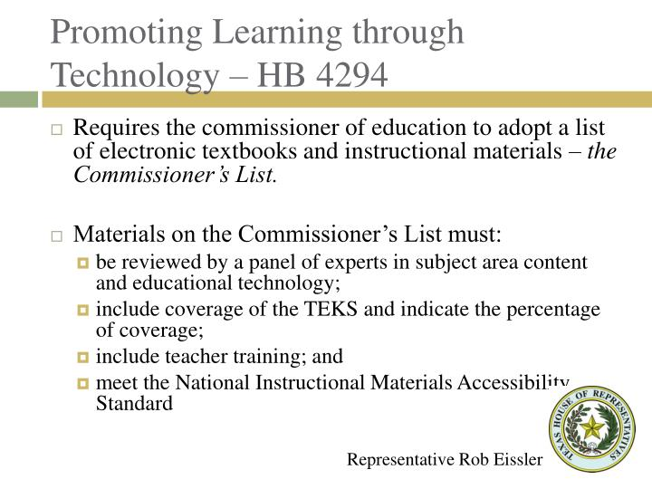 Promoting Learning through Technology