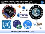 a history of collaboration and cooperation iss as a stepping stone for deep space exploration