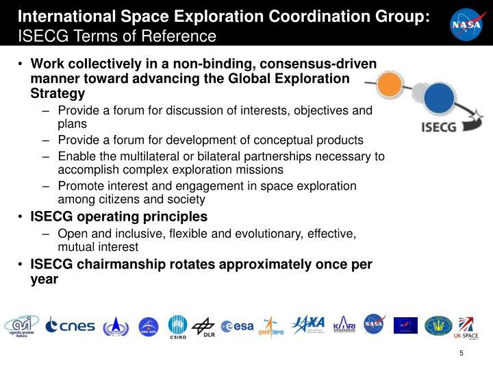 International Space Exploration Coordination Group:
