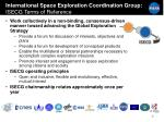 international space exploration coordination group isecg terms of reference