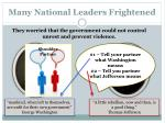 many national leaders frightened
