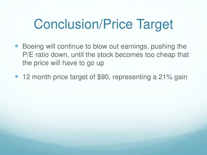Conclusion/Price Target