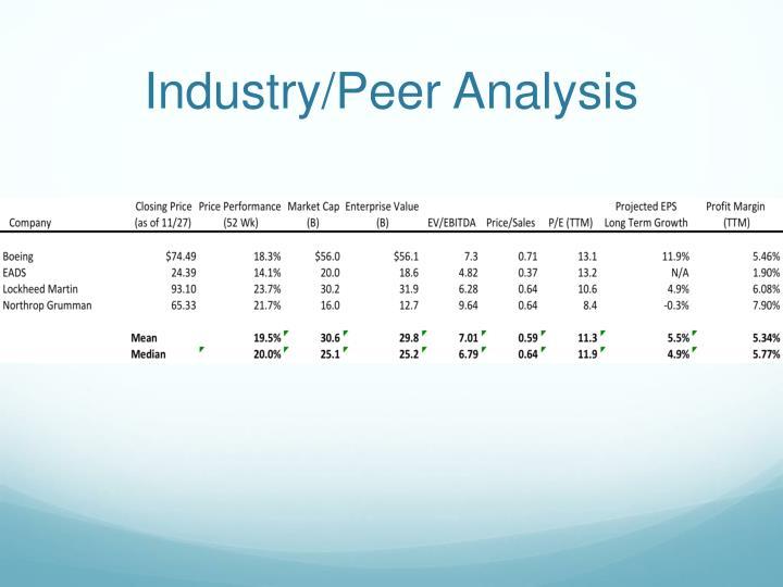 Industry/Peer Analysis