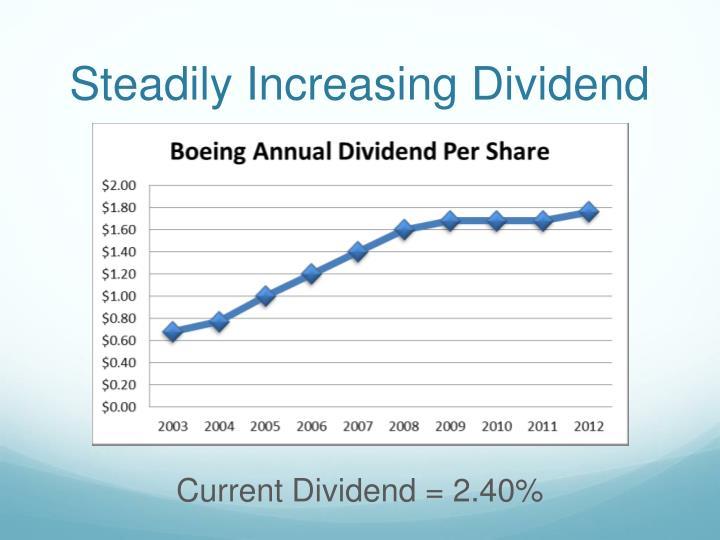 Steadily Increasing Dividend
