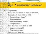 age consumer behavior