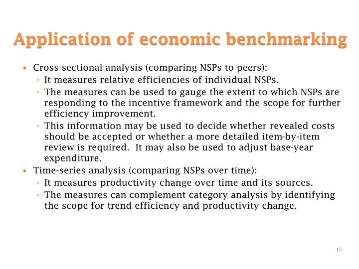 Cross-sectional analysis (comparing NSPs to peers):