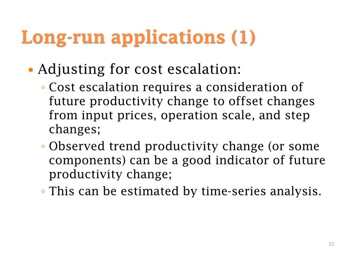 Adjusting for cost escalation: