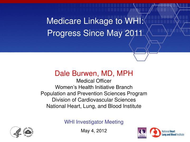 Medicare Linkage to WHI: