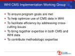 whi cms implementation working group1