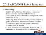 2013 asco ons safety standards1