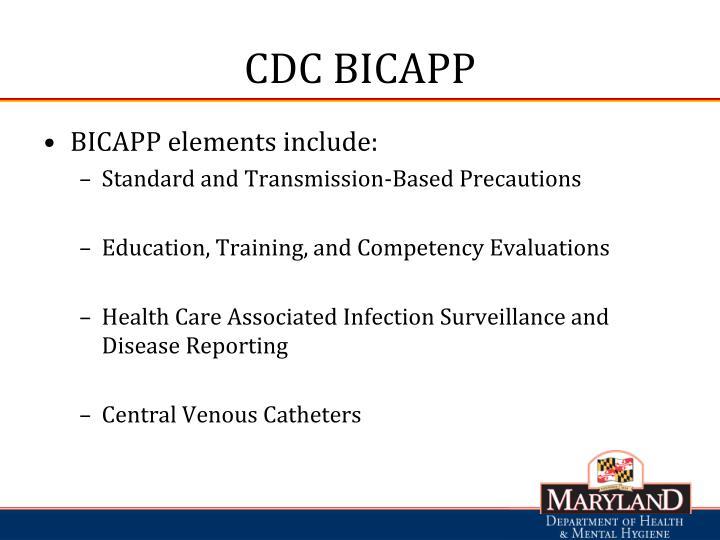 CDC BICAPP