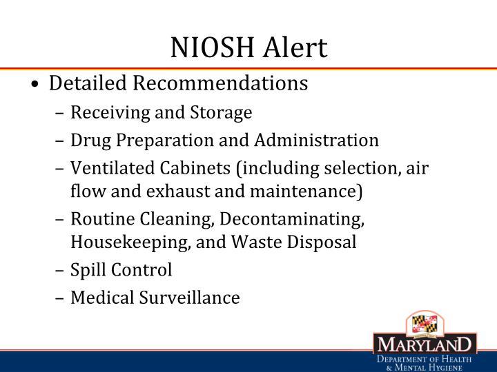 NIOSH Alert
