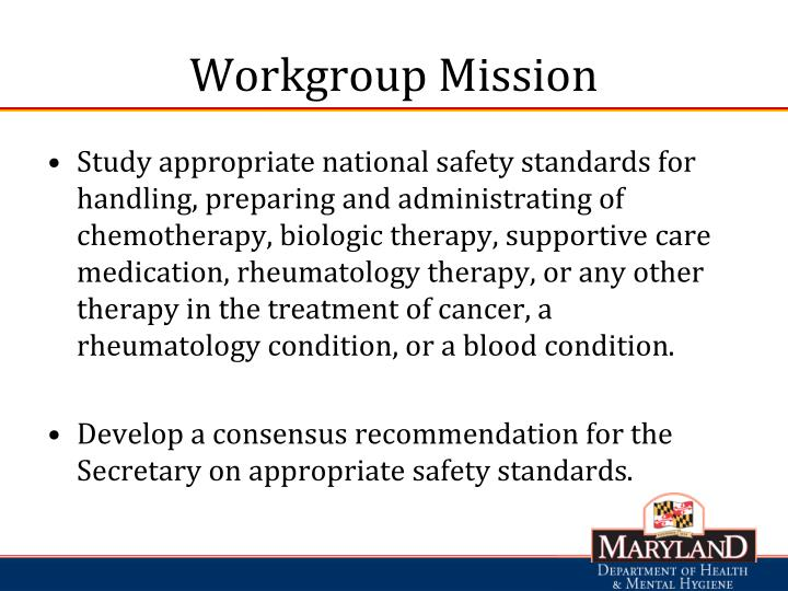 Workgroup Mission