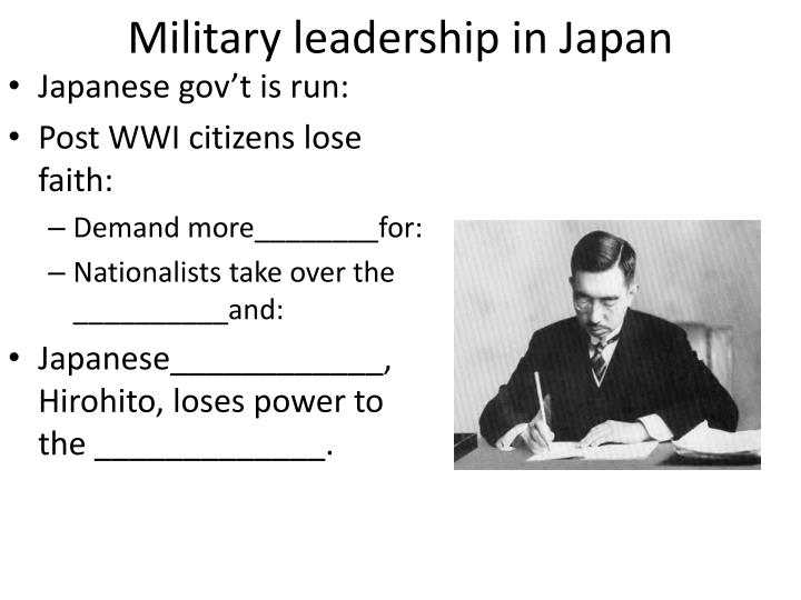 Military leadership in Japan