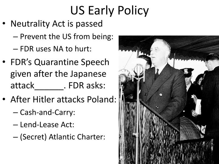 US Early Policy
