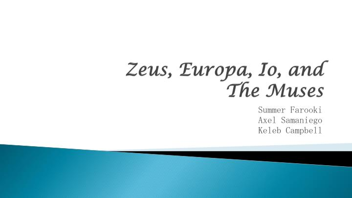 Zeus europa io and the muses