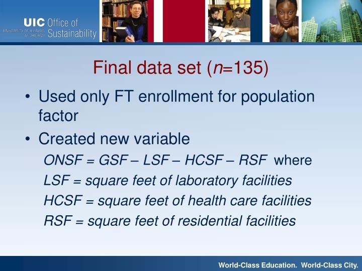 Used only FT enrollment for population factor