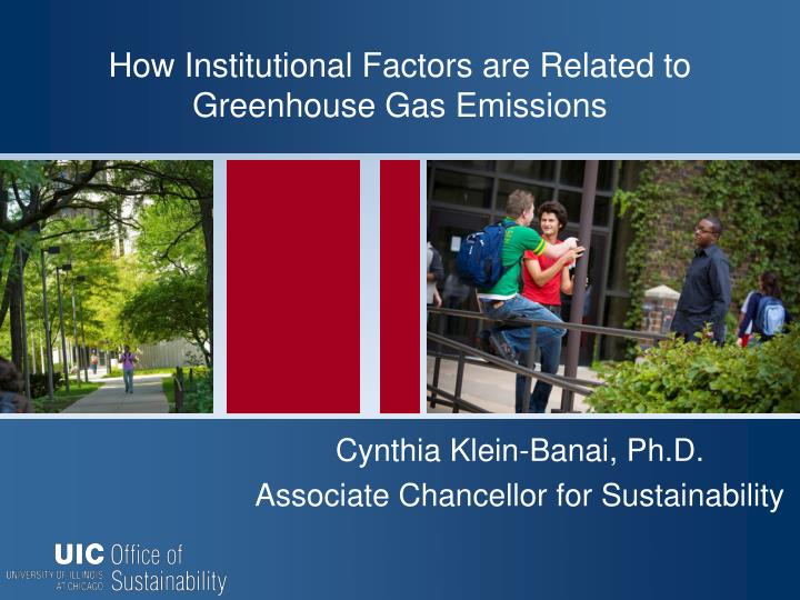 How Institutional Factors are Related to Greenhouse Gas Emissions