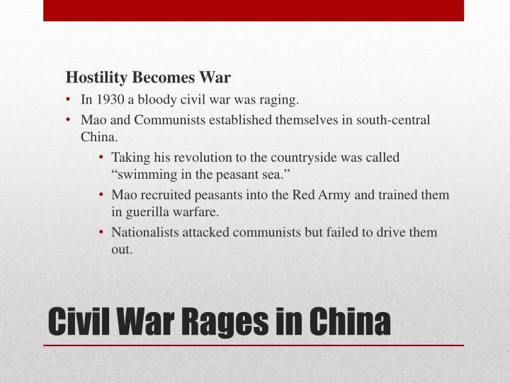 Hostility Becomes War