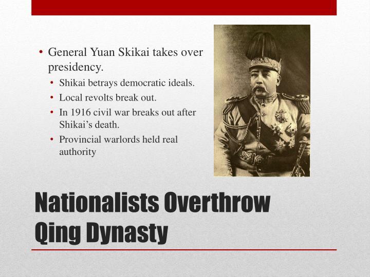 General Yuan Skikai takes over presidency.