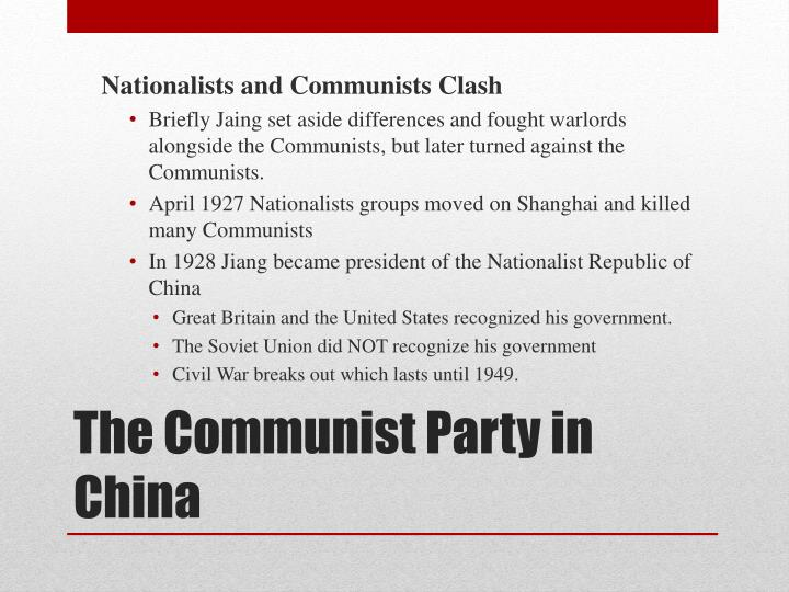 Nationalists and Communists Clash